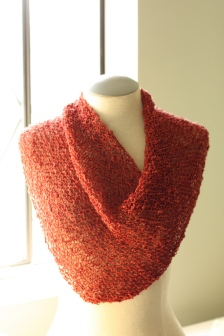 simple garter stitch shawl