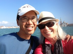 the mister and me in Venice