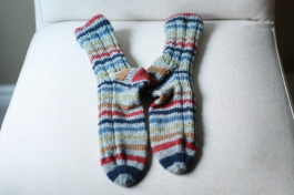 simple skyp striped socks