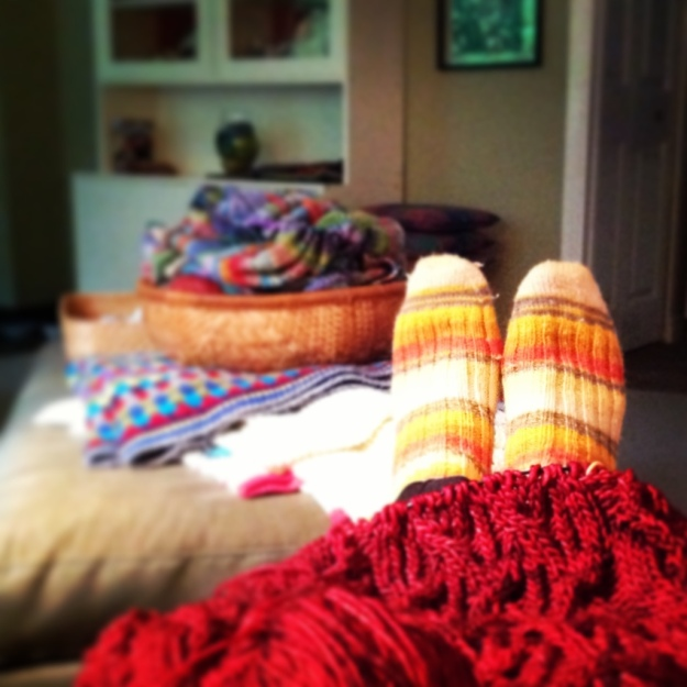 lounging with knits