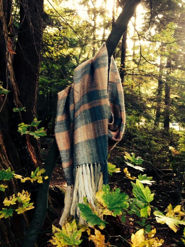 autumn plaid shawl