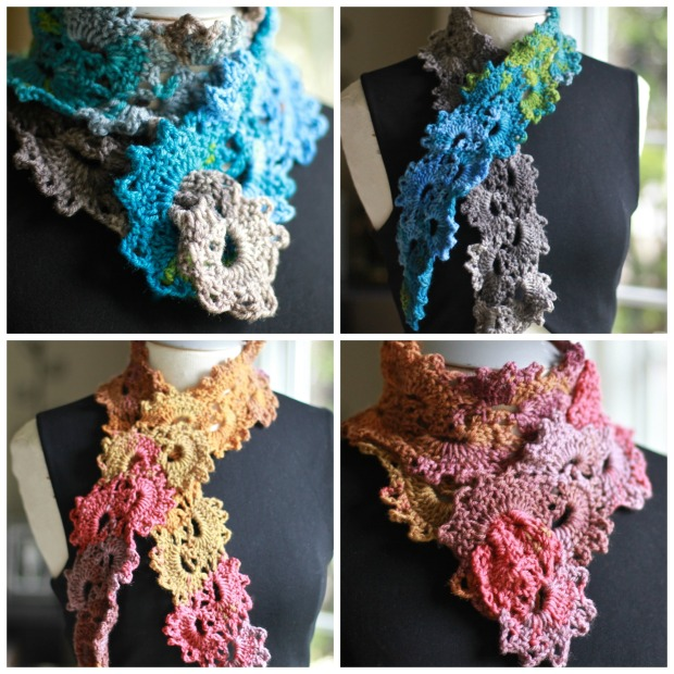 elf crochet scarf collage