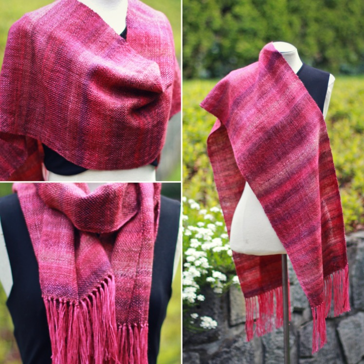 heart of vermillion woven shawl collage2