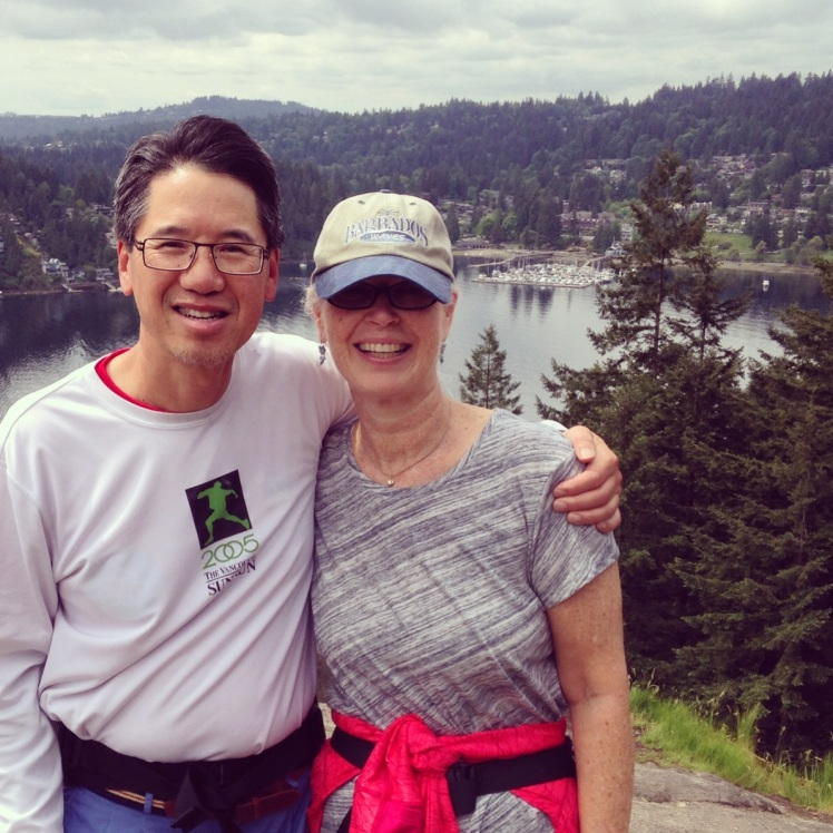 at the top of quarry rock, deep cove
