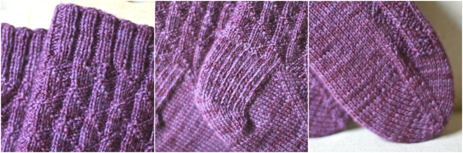 mountainside rib sock collage