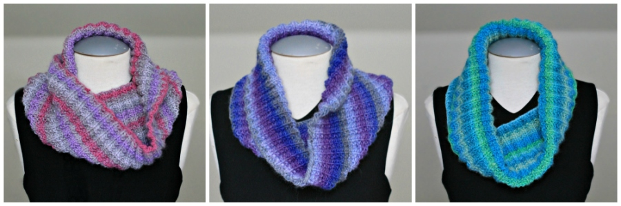 squishy ribbed cowl collage