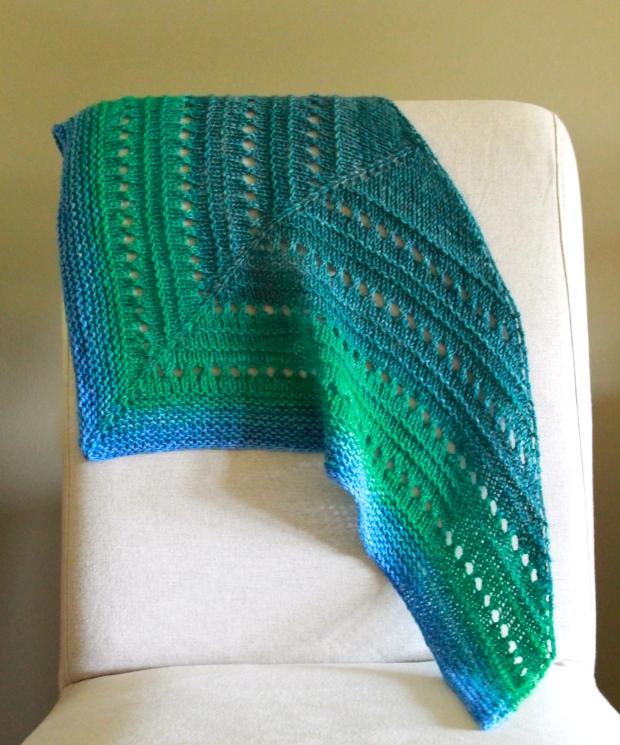 eyelet ridge shawl sample
