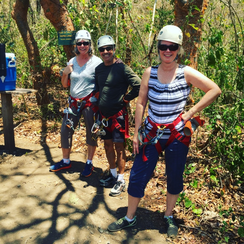 Zip lining in Costa Rica. It was so hot, but so much fun!