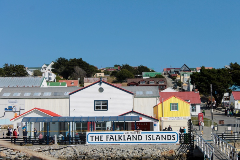 We hit the weather jackpot for our stop in Stanley, Falkland Islands.